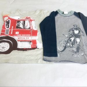 Firefighter Dirt Bike Rider T-Shirt Bundle Sz 2T